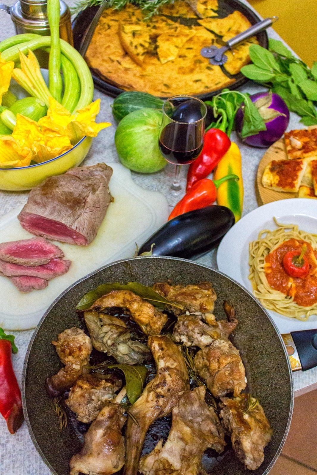 Dettagli piatti della tradizione ligure